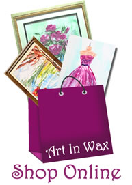 shop online at art in wax shopping bag