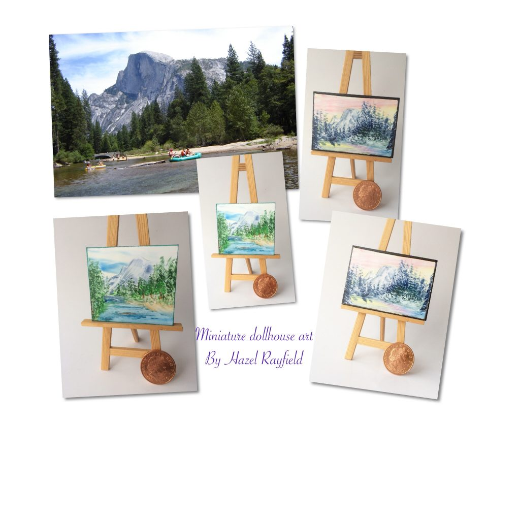 Yosemite National Park dollhouse paintings
