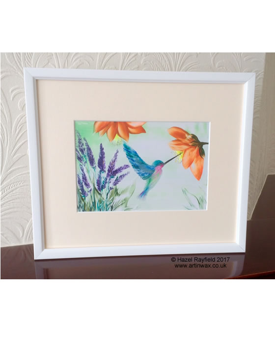 Hummingbird wall art painting