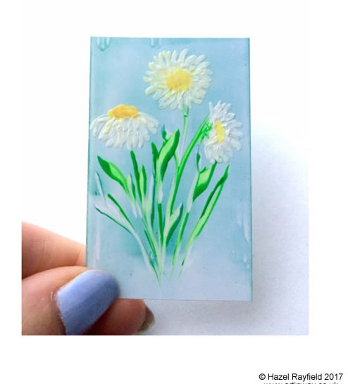 Daisy miniature dollhouse painting