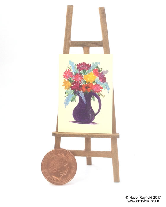 flower bouquet dollhouse painting