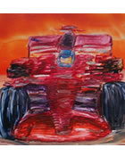 Encaustic Painting Red F1 Car