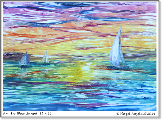 Sunset Painting Sailing