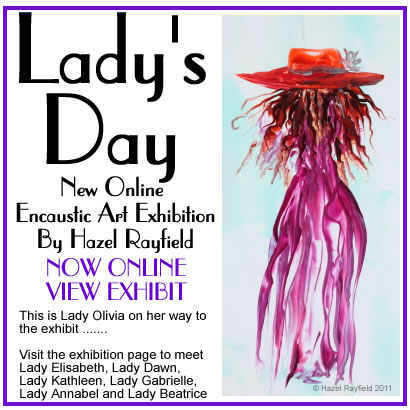 Lady&#039;s Day New Exhibit of paintings poster