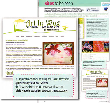Popular Crafts Magazine featuring art in wax