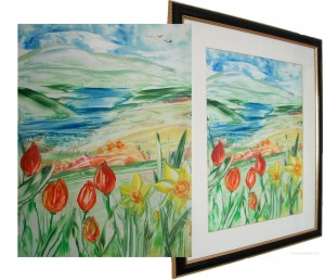 Spring Landscape Encaustic Art Original