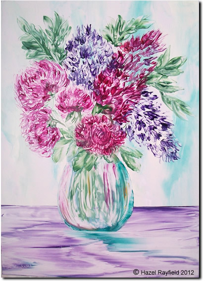 Chrysathemum lilac vase painting