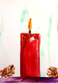 Encaustic Candle