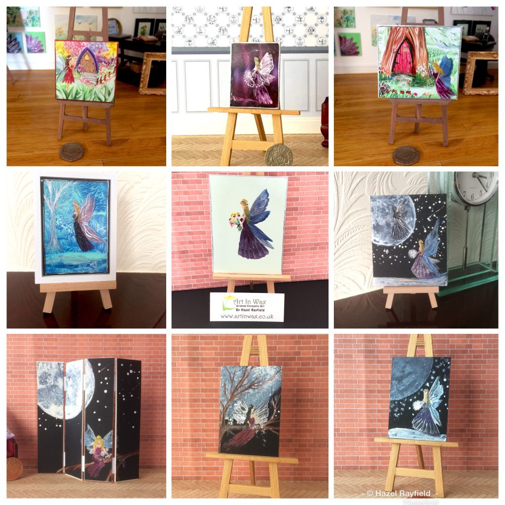 Dollhouse fairy paintings