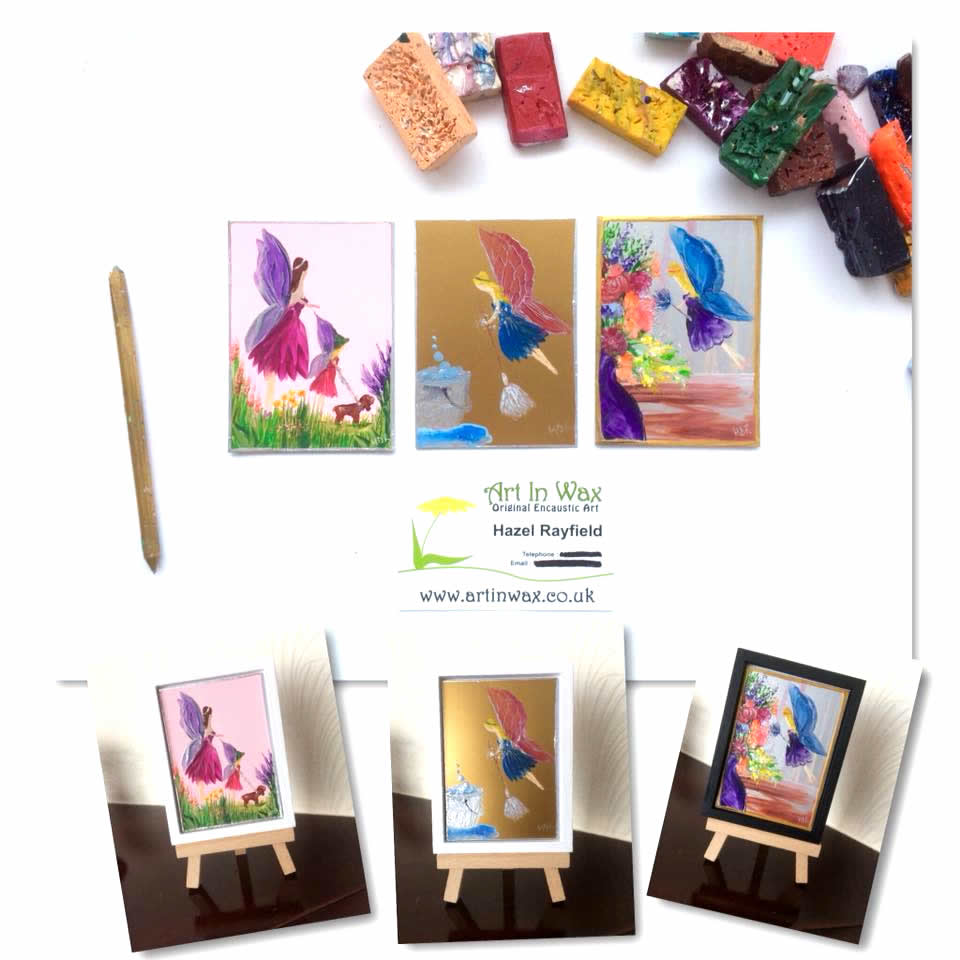 fairy paintings original art in miniature