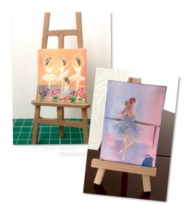 Ballet Dancer miniature dollhouse art
