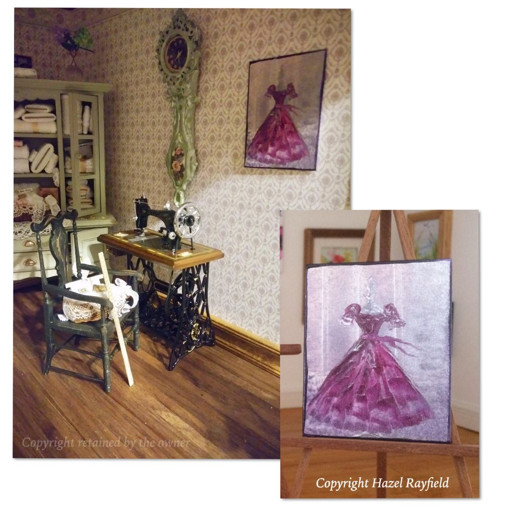 Mannequin painting dollhouse