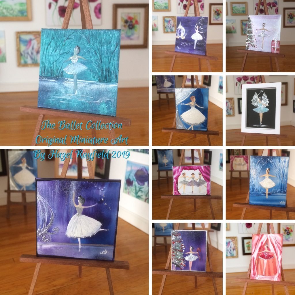 Dollhouse ballerina paintings