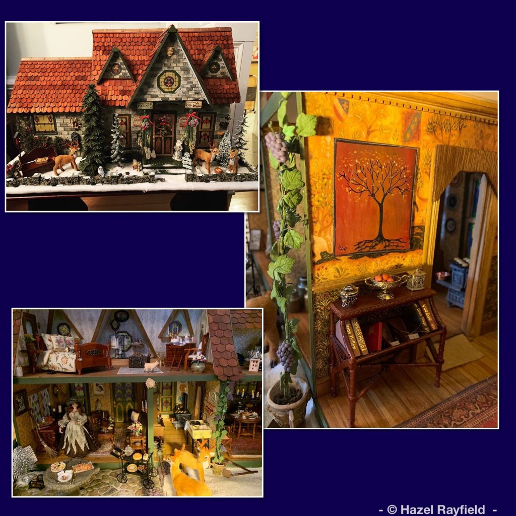 Miniature 1:12 witches dollhouse