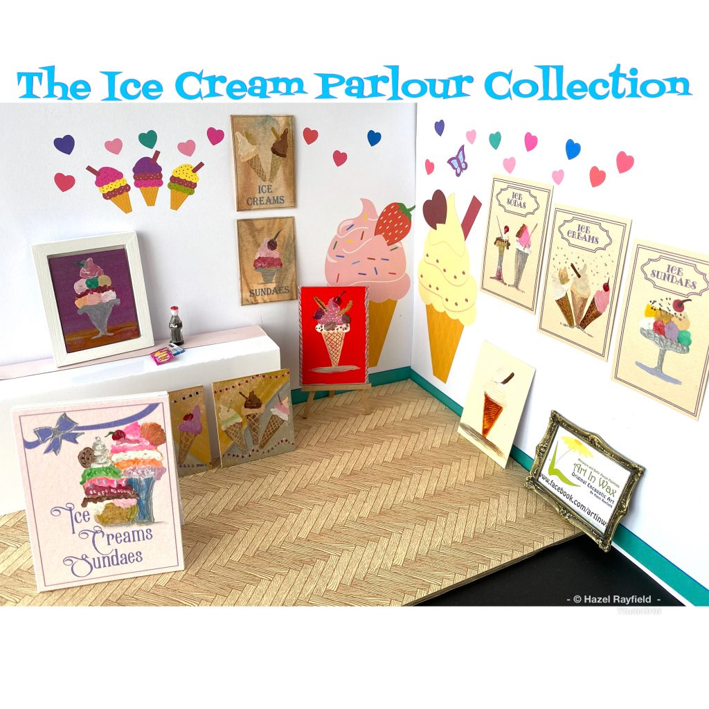 Ice cream parlour paintings