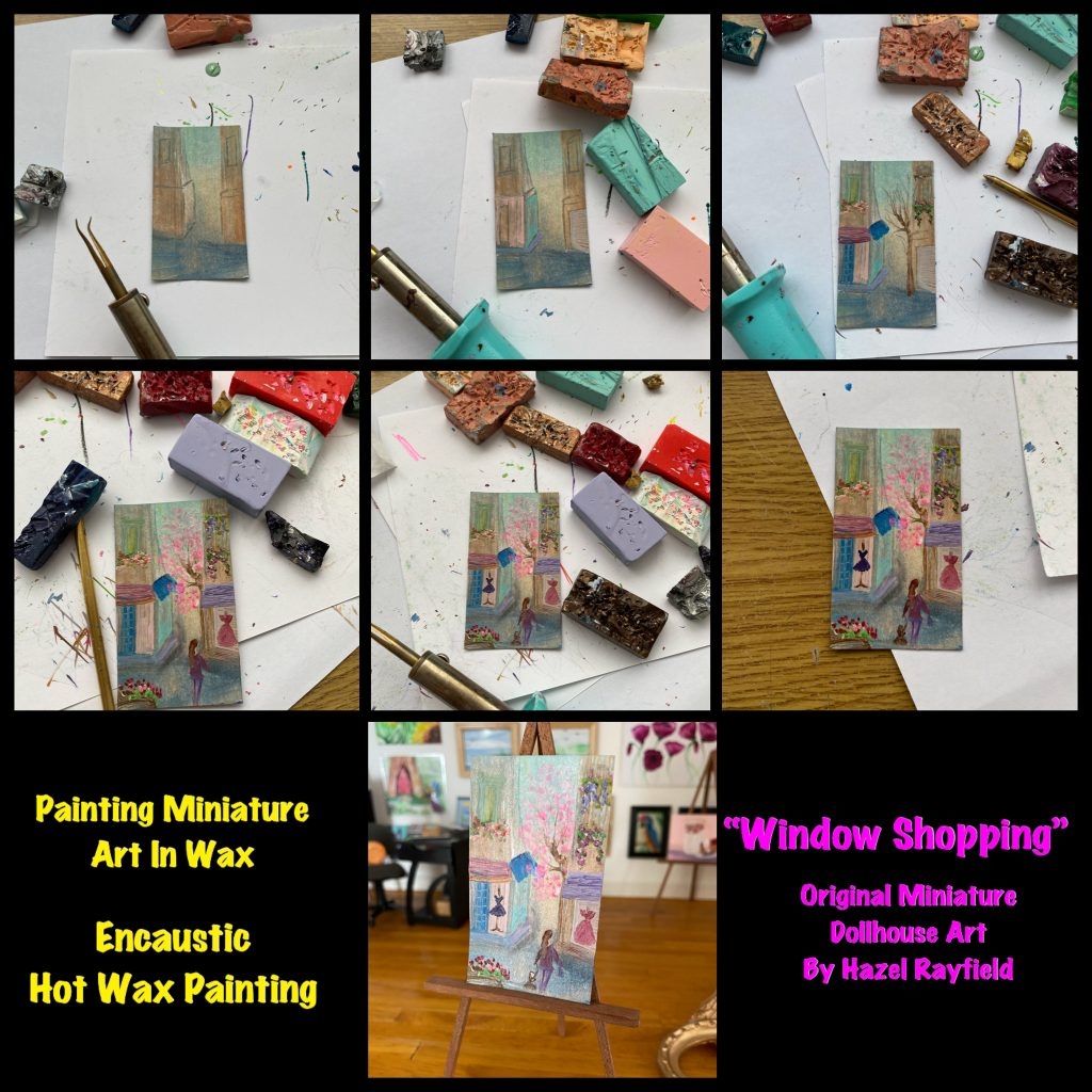 Step by step painting dollhouse art