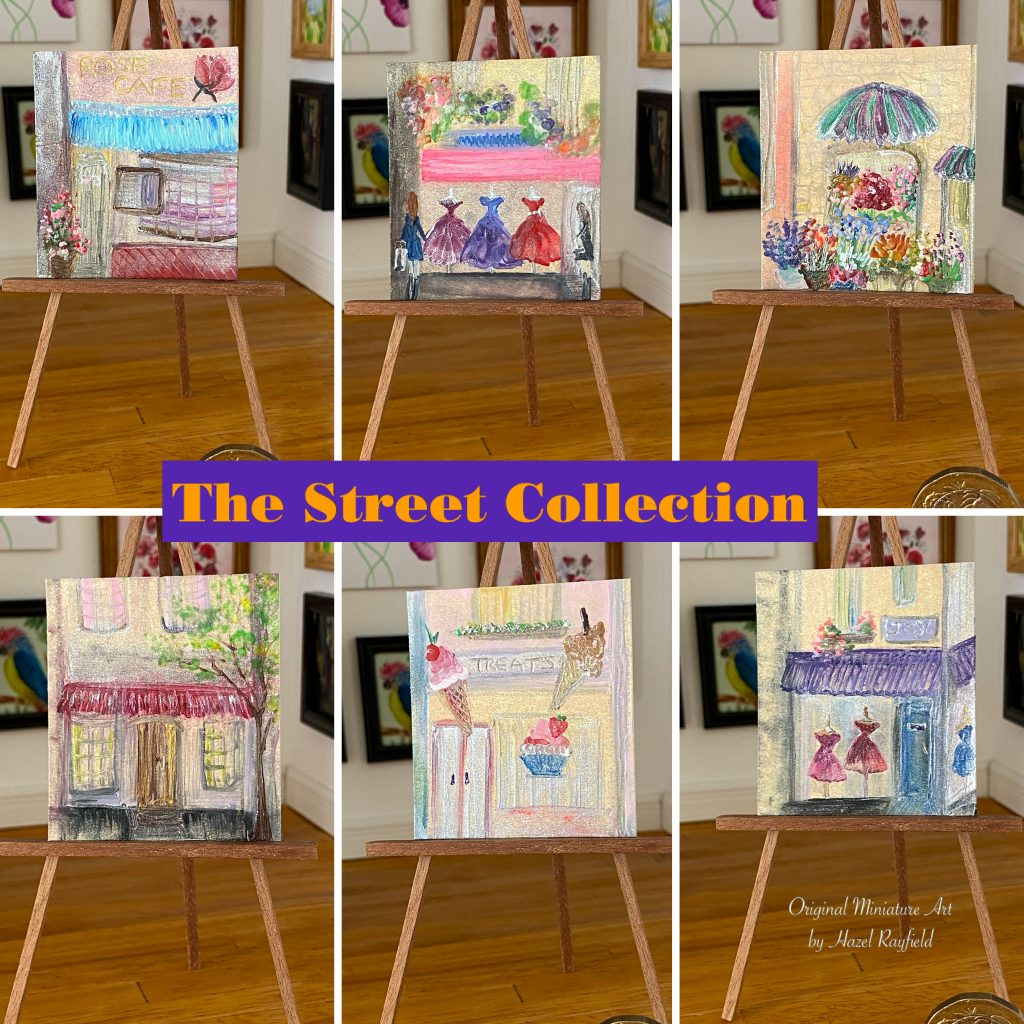 Dollhouse painting collection shop street