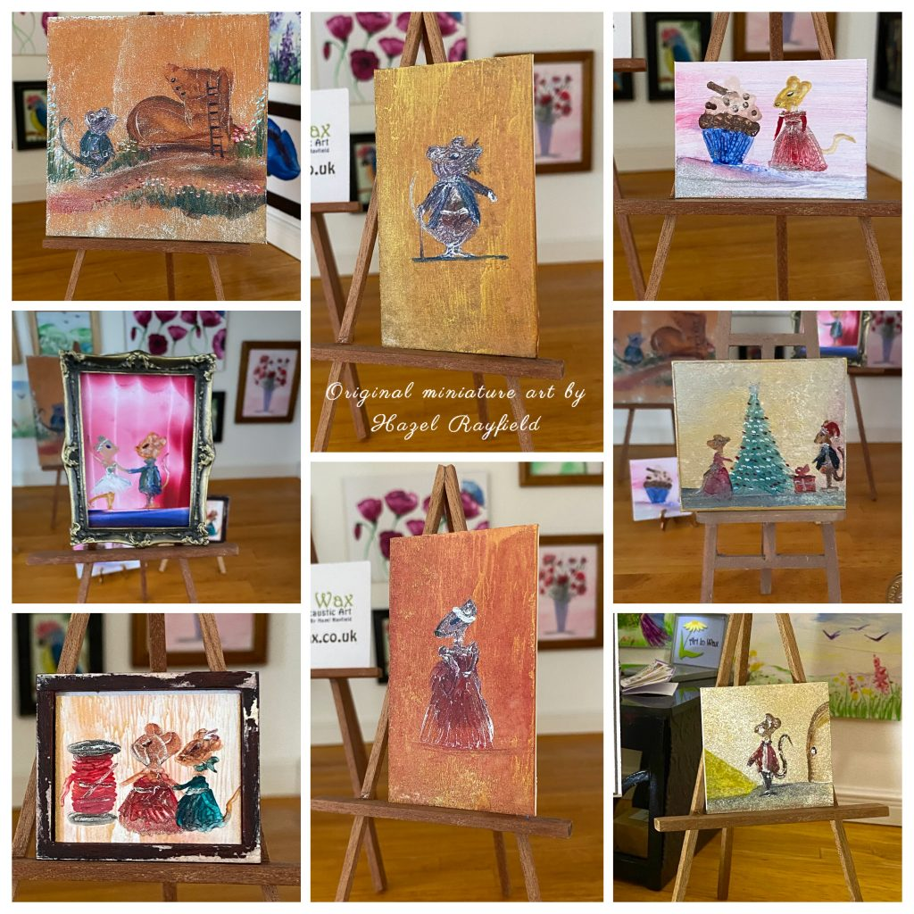 Mouse miniature paintings