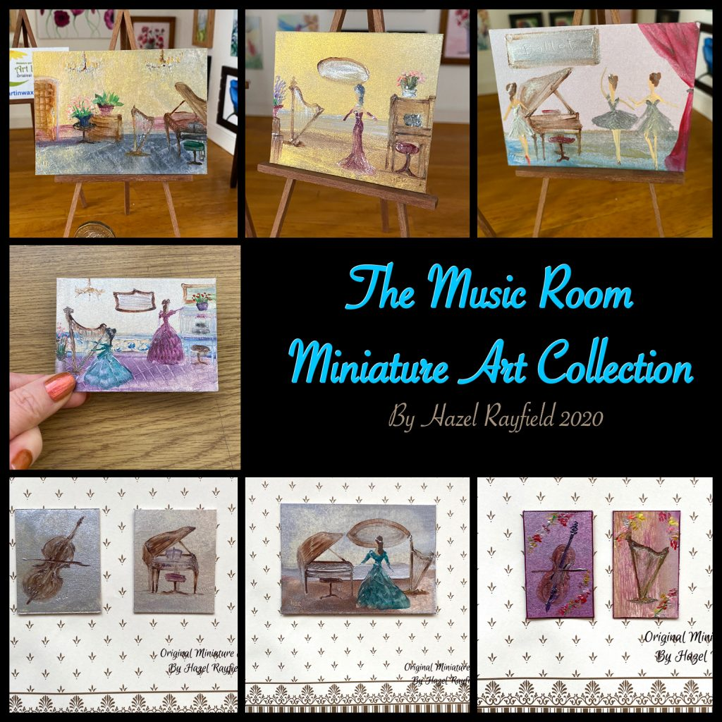 Music  Room Miniature Art